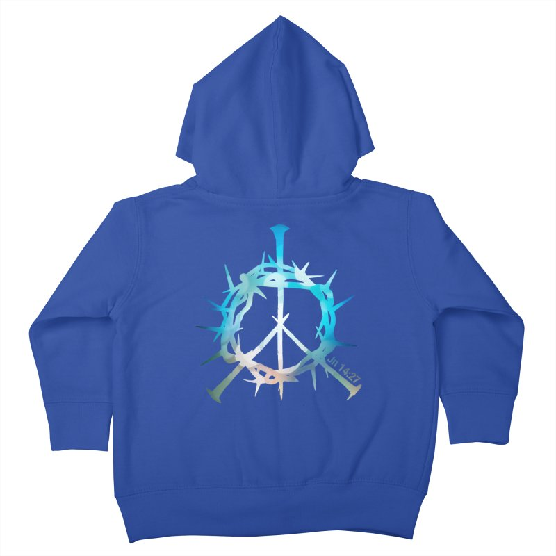 Peace be with You Kids Toddler Zip-Up Hoody by Stand Forgiven ✝ Bible-inspired designer brand