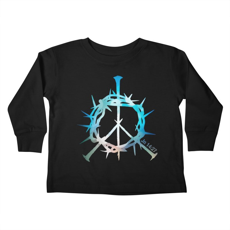 Peace be with You Kids Toddler Longsleeve T-Shirt by Stand Forgiven ✝ Bible-inspired designer brand