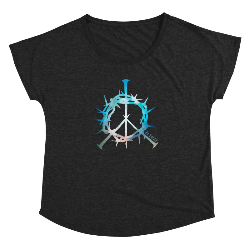 Peace be with You Women's Dolman Scoop Neck by Stand Forgiven ✝ Bible-inspired designer brand