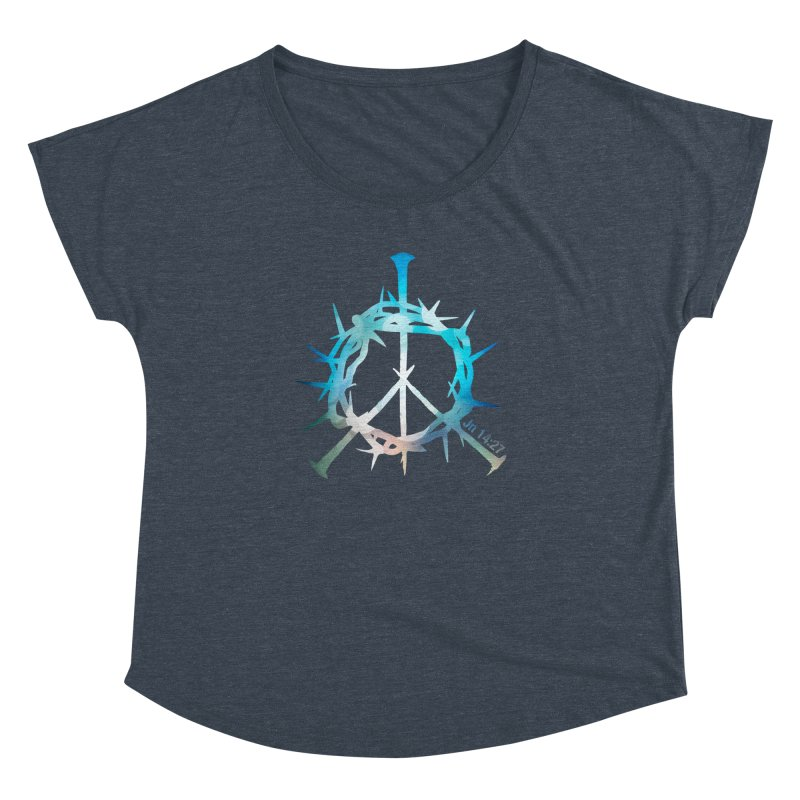 Peace be with You Women's Dolman by Stand Forgiven ✝ Bible-inspired designer brand