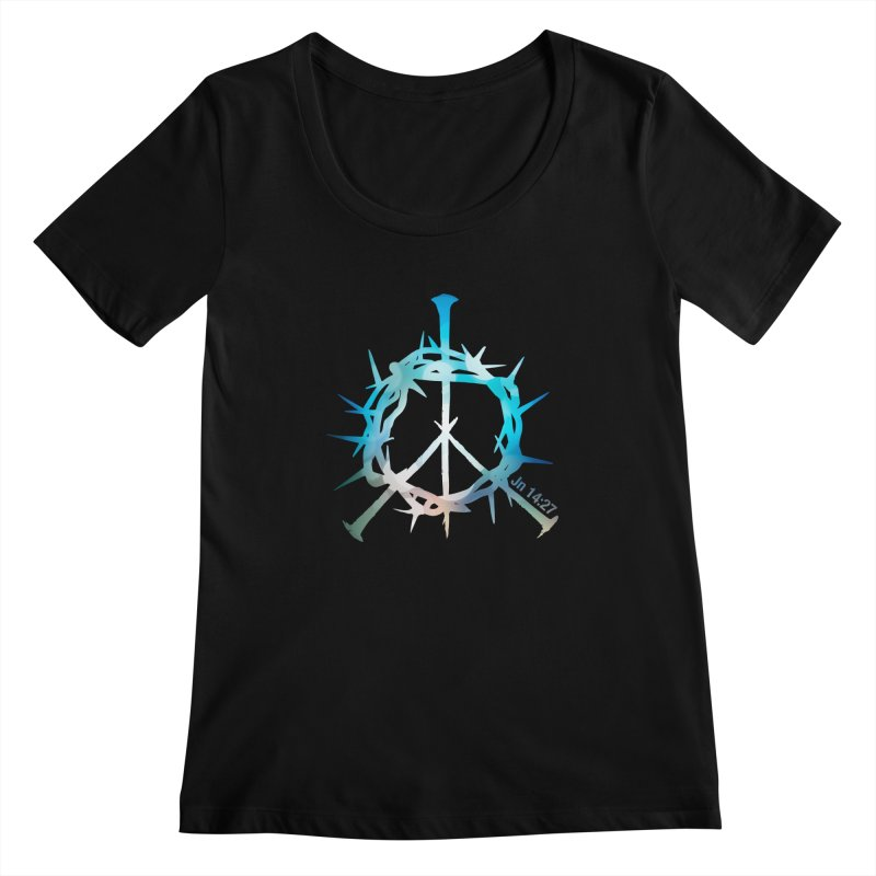 Peace be with You Women's Scoopneck by Stand Forgiven ✝ Bible-inspired designer brand