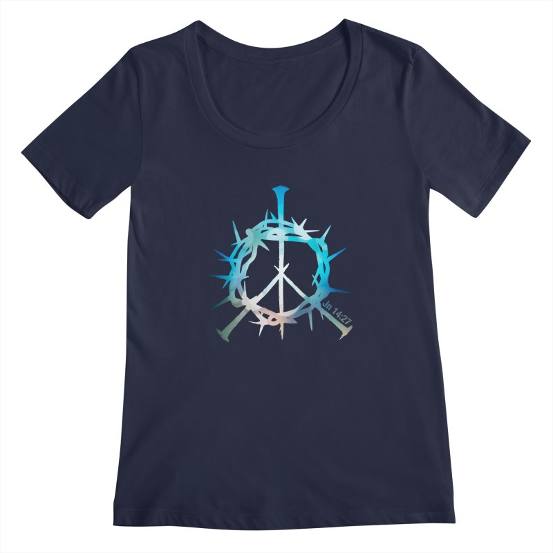 Peace be with You Women's Regular Scoop Neck by Stand Forgiven ✝ Bible-inspired designer brand