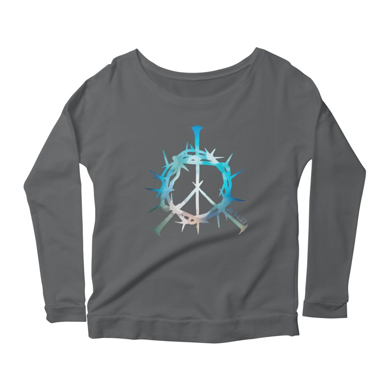 Peace be with You Women's Scoop Neck Longsleeve T-Shirt by Stand Forgiven ✝ Bible-inspired designer brand