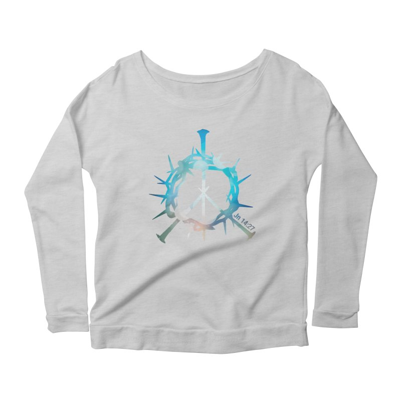 Peace be with You Women's Longsleeve Scoopneck  by Stand Forgiven ✝ Bible-inspired designer brand