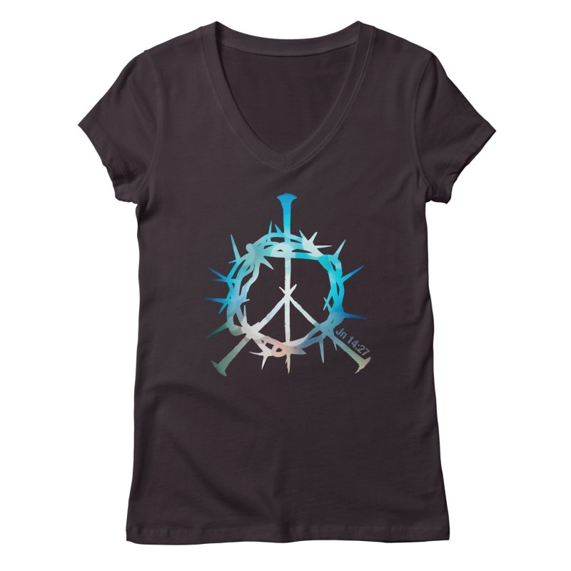 Peace be with You Women's V-Neck by Stand Forgiven ✝ Bible-inspired designer brand
