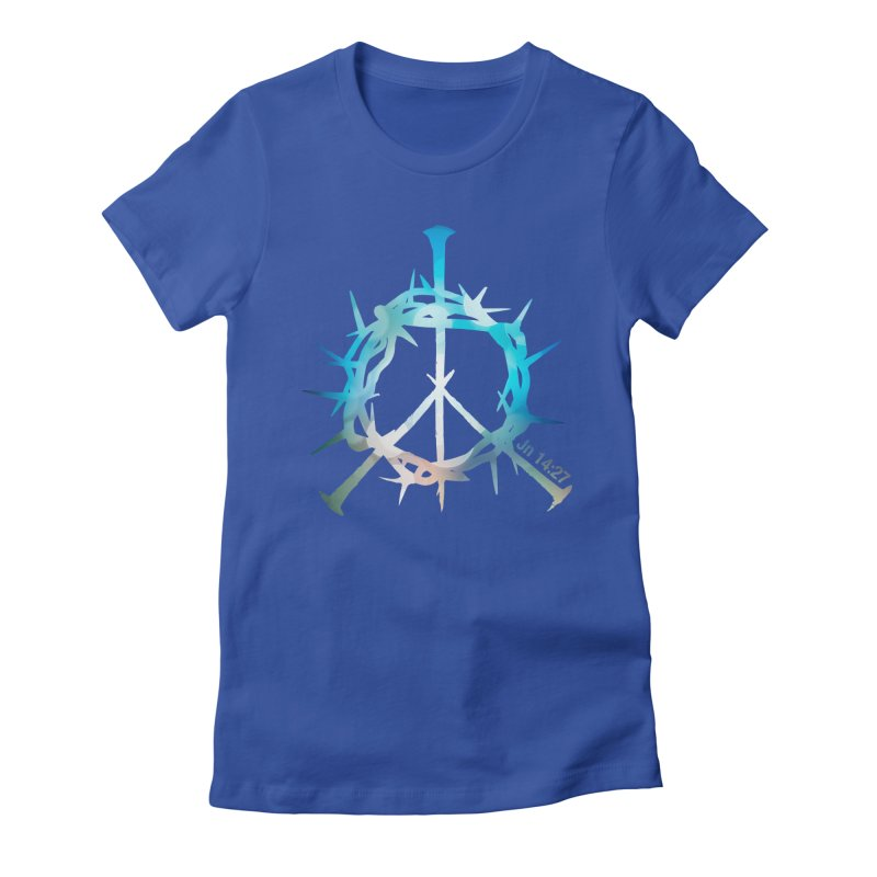 Peace be with You Women's Fitted T-Shirt by Stand Forgiven ✝ Bible-inspired designer brand