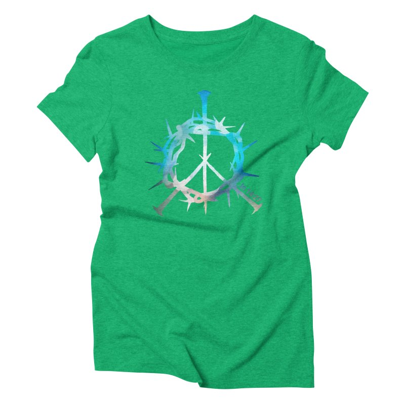 Peace be with You Women's Triblend T-Shirt by Stand Forgiven ✝ Bible-inspired designer brand