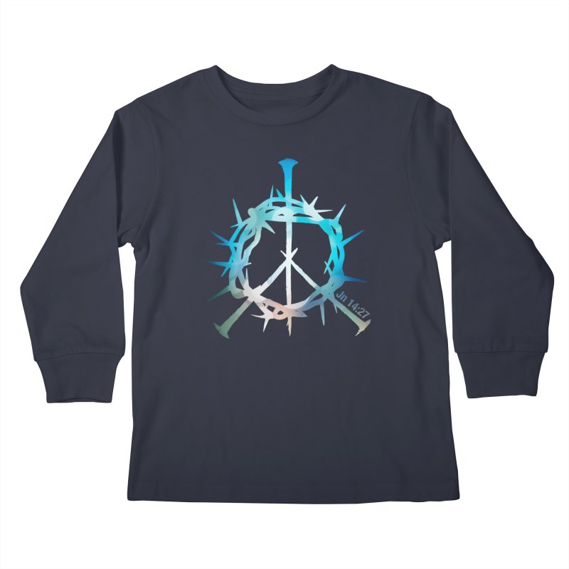 Peace be with You Kids Longsleeve T-Shirt by Stand Forgiven ✝ Bible-inspired designer brand