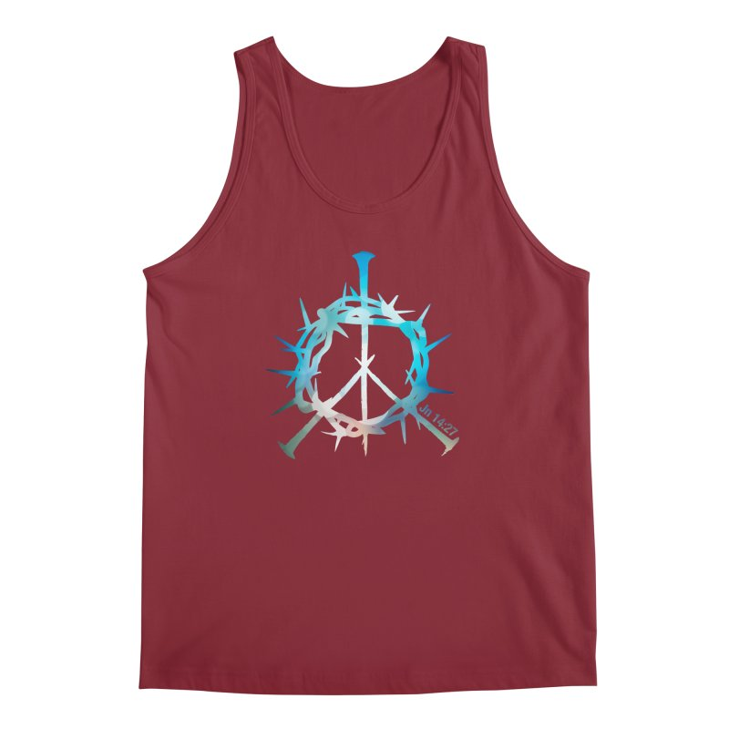 Peace be with You Men's Tank by Stand Forgiven ✝ Bible-inspired designer brand