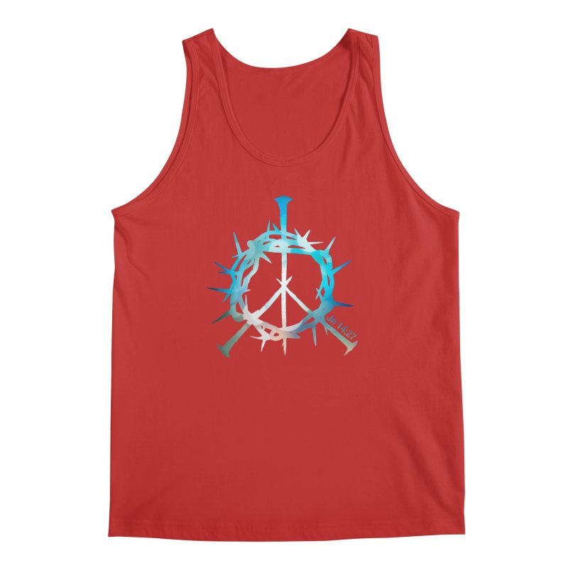 Peace be with You Men's Regular Tank by Stand Forgiven ✝ Bible-inspired designer brand