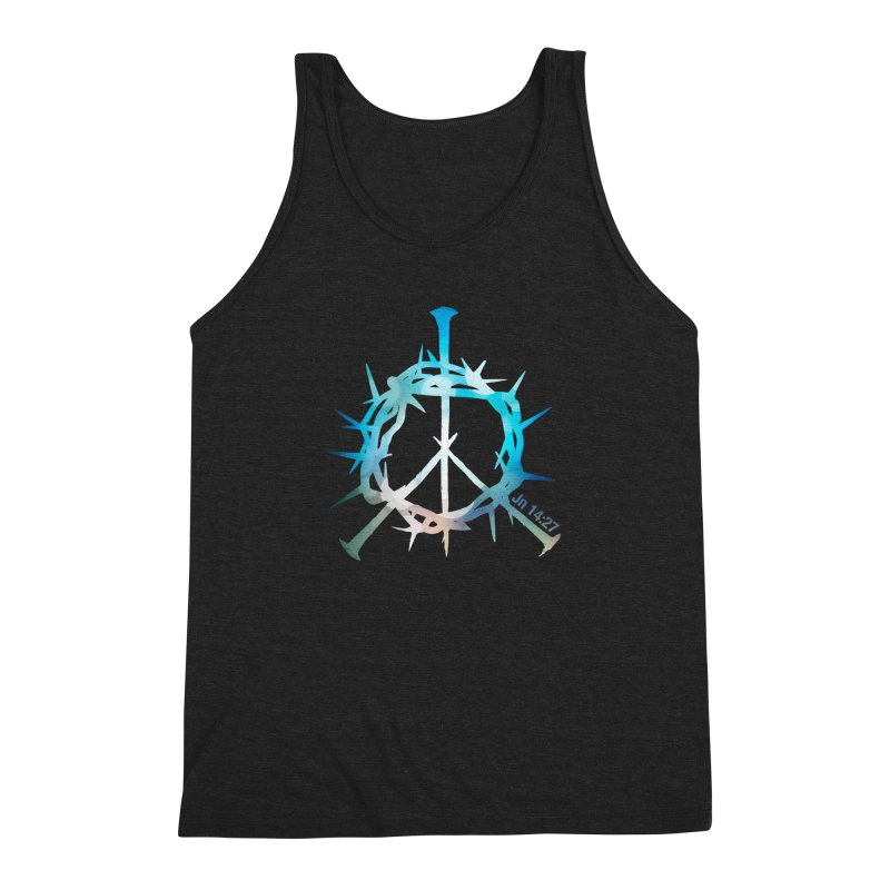 Peace be with You Men's Triblend Tank by Stand Forgiven ✝ Bible-inspired designer brand