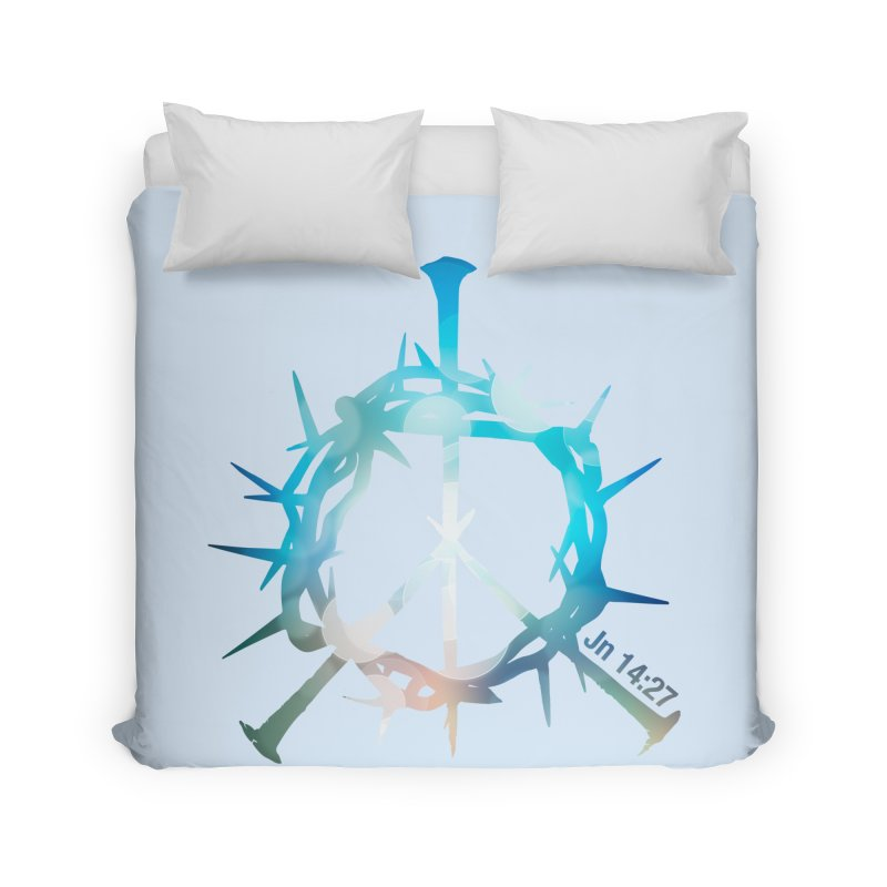 Peace be with You Home Duvet by Stand Forgiven ✝ Bible-inspired designer brand