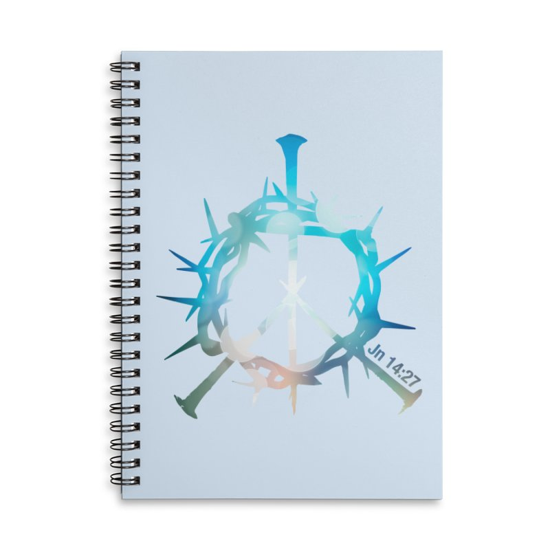Peace be with You Accessories Lined Spiral Notebook by Stand Forgiven ✝ Bible-inspired designer brand