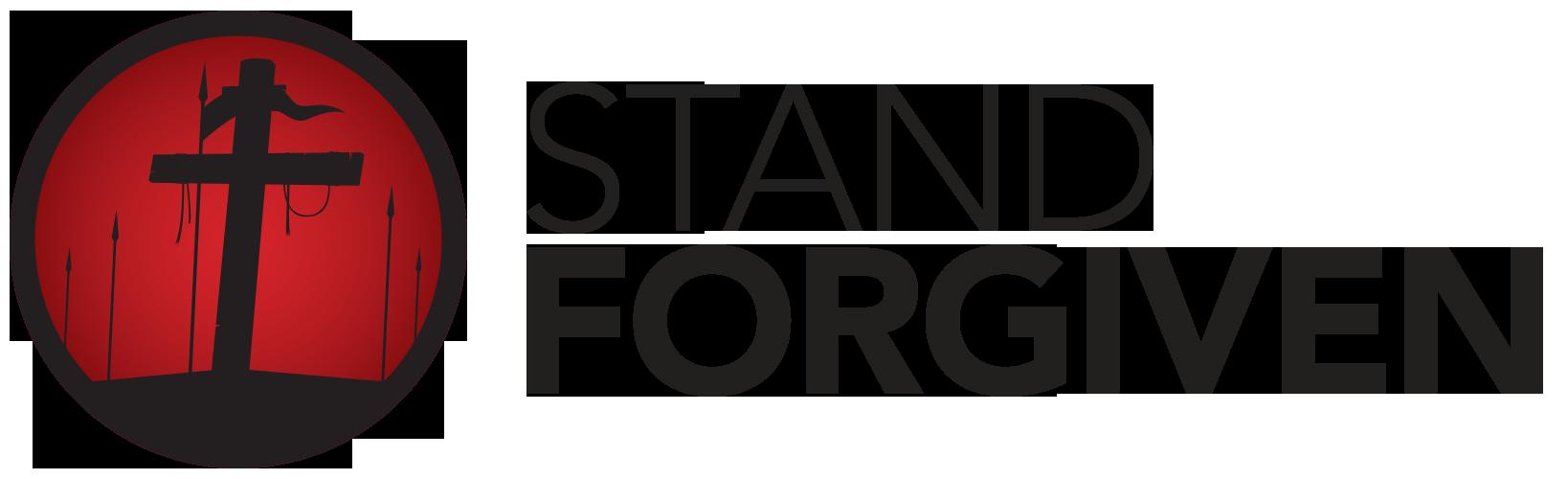 Stand Forgiven ✝ Bible-inspired designer brand Logo