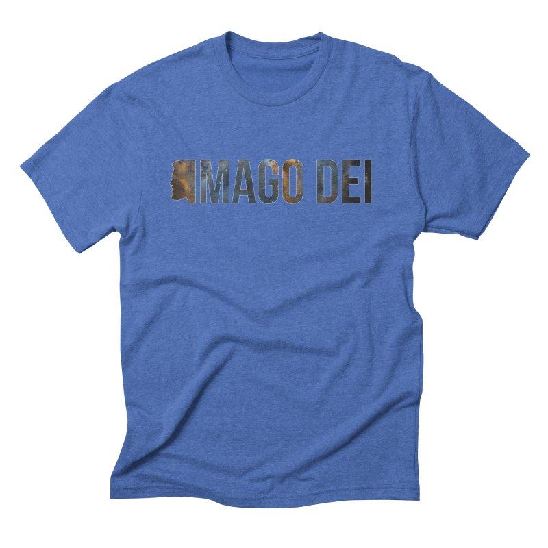 Imago Dei Male in Men's Triblend T-Shirt Blue Triblend by XXXIII Apparel