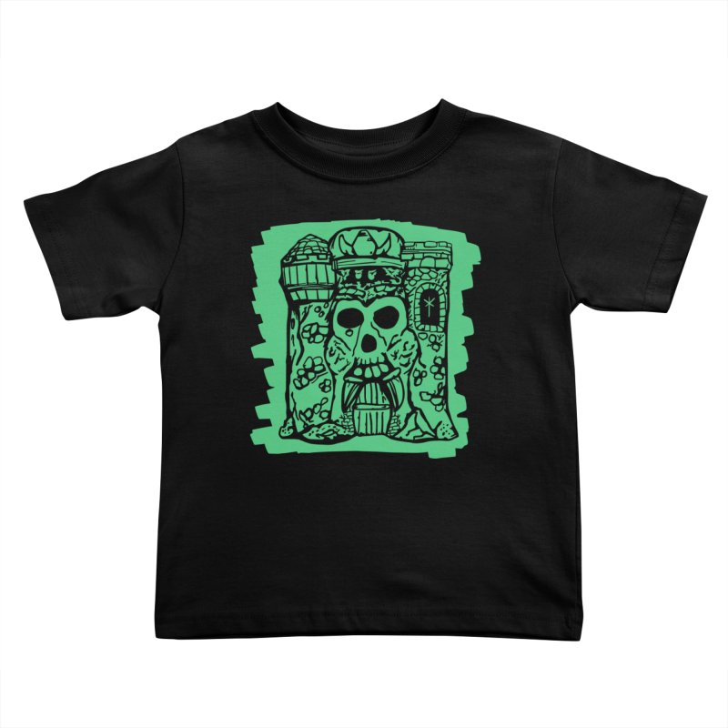 Grayskull [black] Kids Toddler T-Shirt by starcrx's Artist Shop