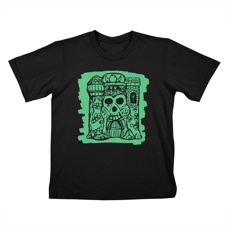 Grayskull [black] Kids T-Shirt by starcrx's Artist Shop