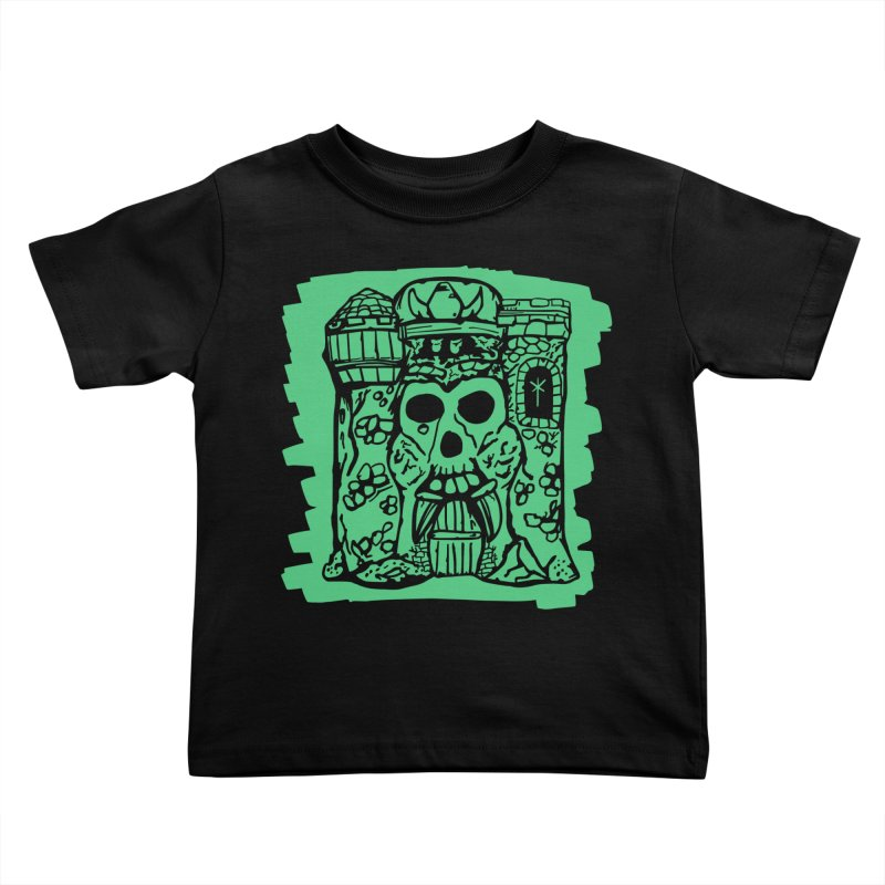 Grayskull [black] Kids Toddler T-Shirt by starcrx's Artist Shop