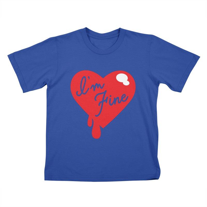 I'm Fine Kids T-shirt by Starline Design