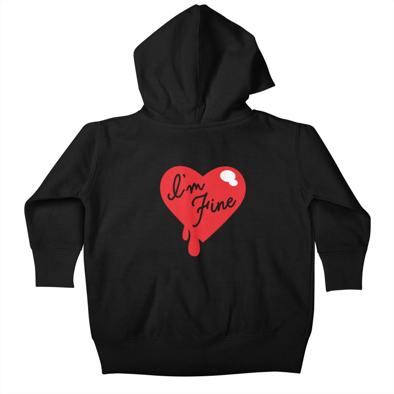 I'm Fine Kids Baby Zip-Up Hoody by Starline Design