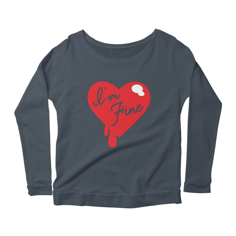 I'm Fine Women's Longsleeve Scoopneck  by Starline Design