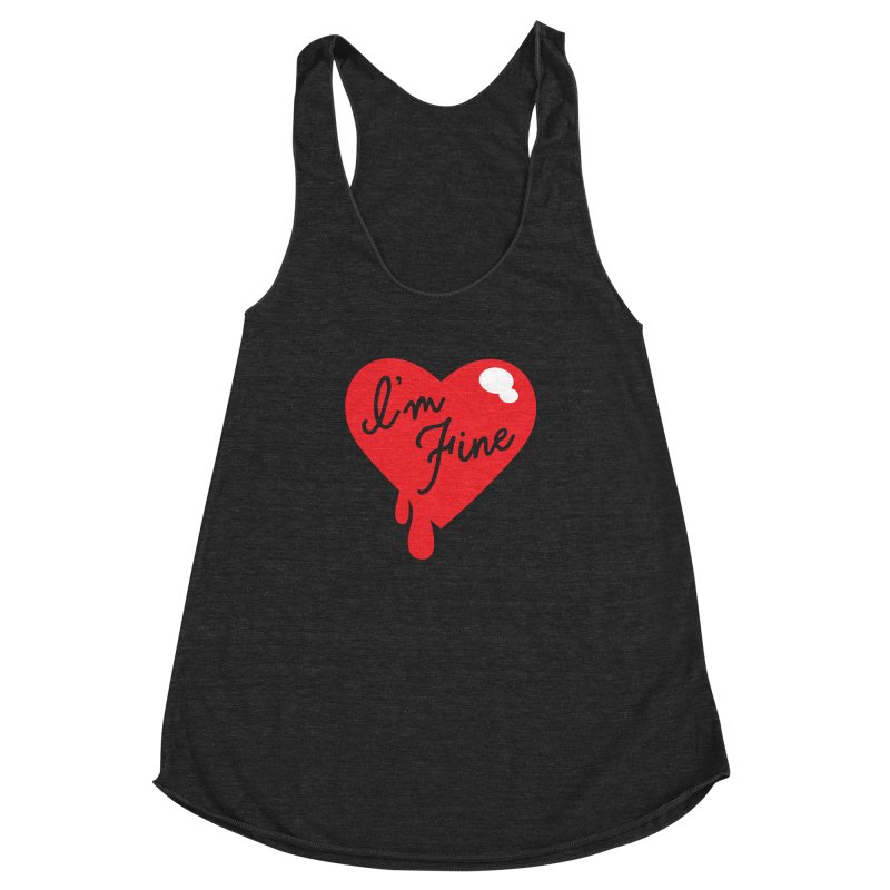 I'm Fine Women's Racerback Triblend Tank by Starline the Queen