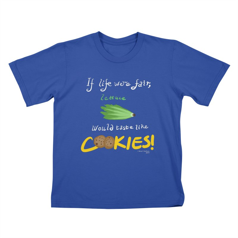 Lettuce Cookies Kids T-Shirt by Starry Knight Studios