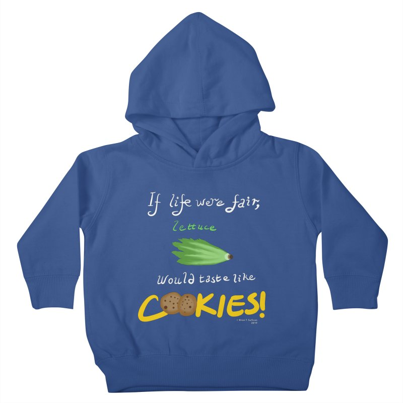 Lettuce Cookies Kids Toddler Pullover Hoody by Starry Knight Studios