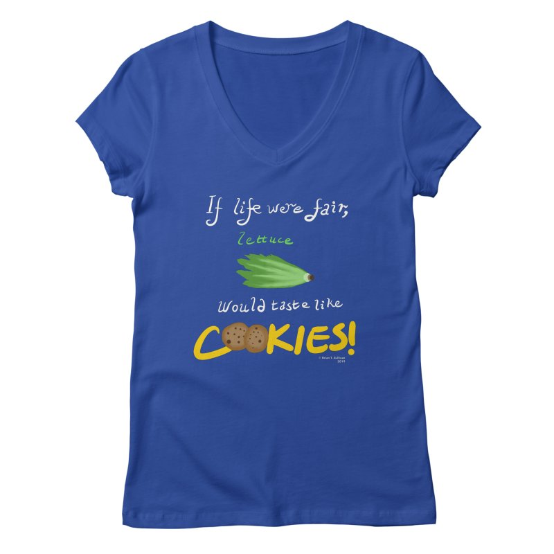 Lettuce Cookies Women's V-Neck by Starry Knight Studios