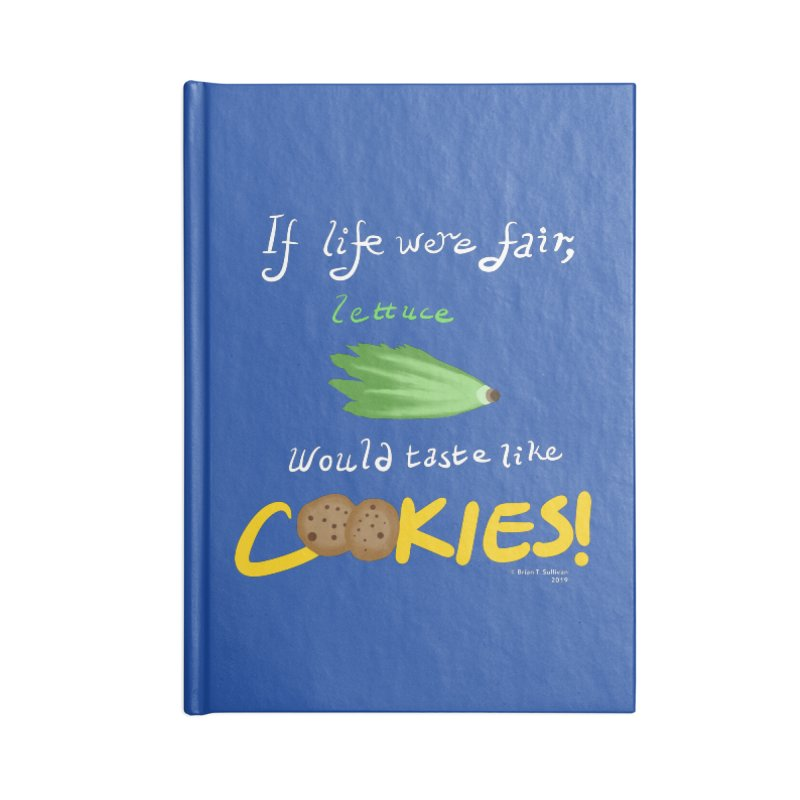 Lettuce Cookies Accessories Blank Journal Notebook by Starry Knight Studios