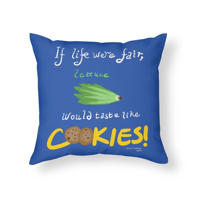 Lettuce Cookies Home Throw Pillow by Starry Knight Studios