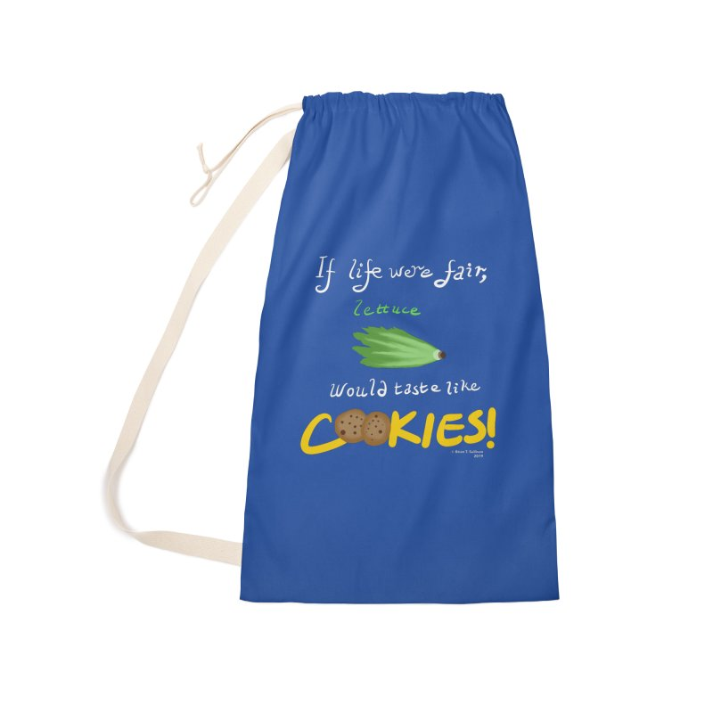 Lettuce Cookies Accessories Laundry Bag Bag by Starry Knight Studios