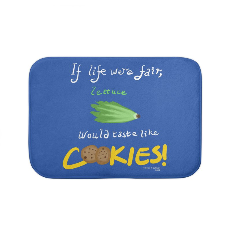 Lettuce Cookies Home Bath Mat by Starry Knight Studios