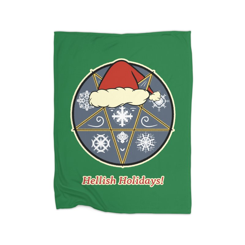 Hellish Holidays Home Fleece Blanket Blanket by Starry Knight Studios