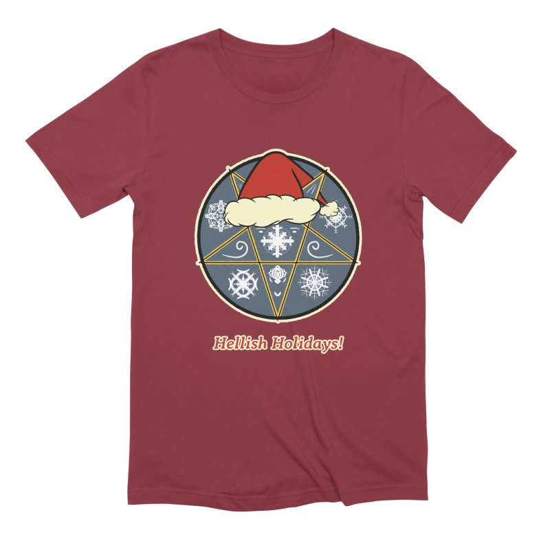Hellish Holidays Men's Extra Soft T-Shirt by Starry Knight Studios