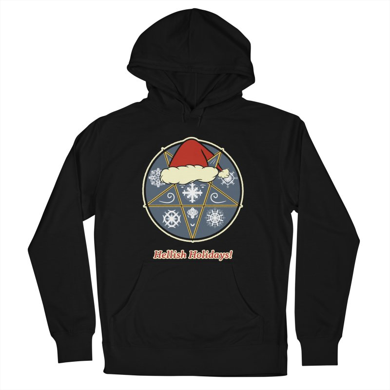 Hellish Holidays Men's French Terry Pullover Hoody by Starry Knight Studios