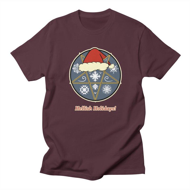 Hellish Holidays Men's Regular T-Shirt by Starry Knight Studios