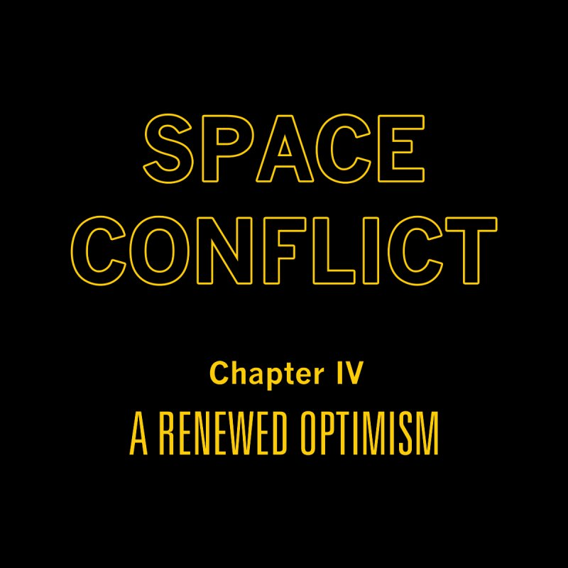 Space Conflict – Chapter IV: A Renewed Optimism Men's T-Shirt by Starry Knight Studios