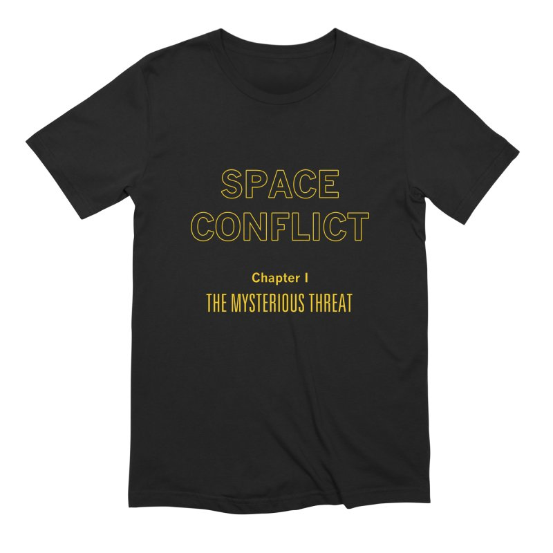 Space Conflict – Chapter I: The Mysterious Threat Men's T-Shirt by Starry Knight Studios