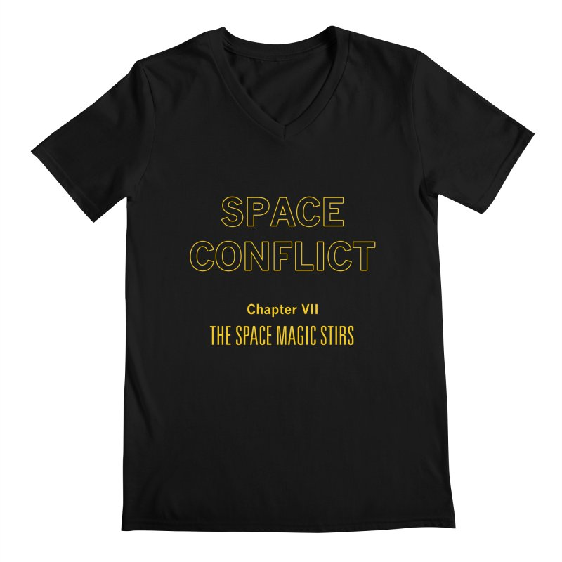 Space Conflict – Chapter VII: The Space Magic Stirs Men's Regular V-Neck by Starry Knight Studios