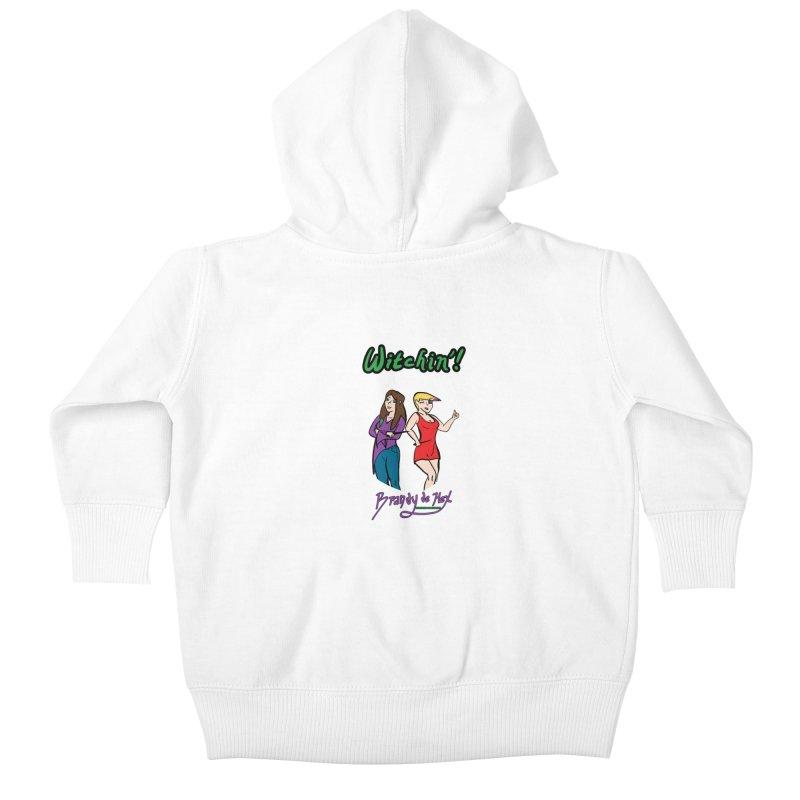 Brandy de Hex: Witchin'! Kids Baby Zip-Up Hoody by Starry Knight Studios