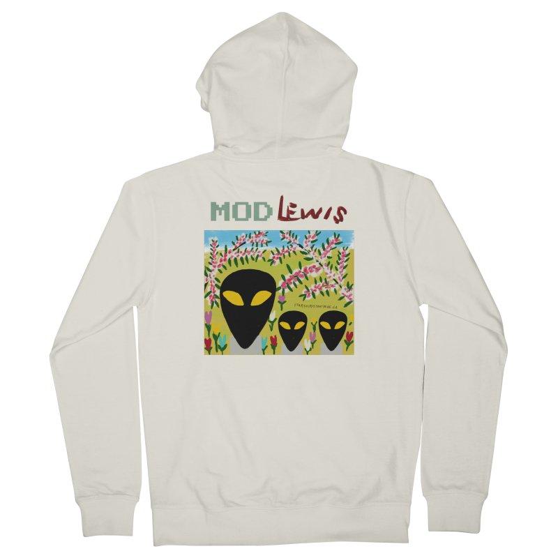 Mod Lewis 3 Aliens Men's Zip-Up Hoody by starshipsstarthere's Artist Shop