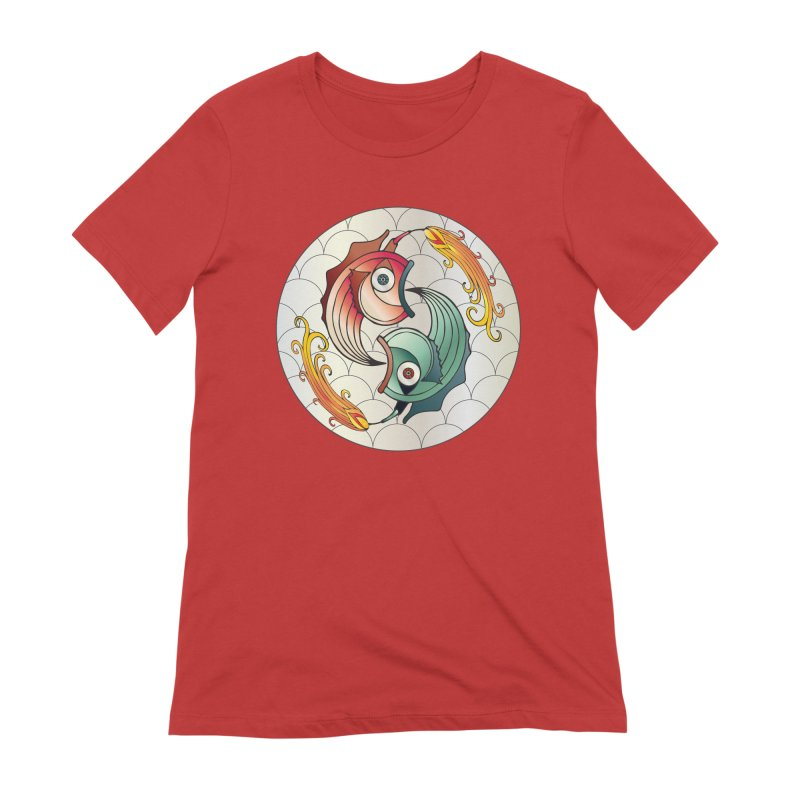 Deco Fish Twins Logo 2019! Women's Extra Soft T-Shirt by starstar's Artist Shop