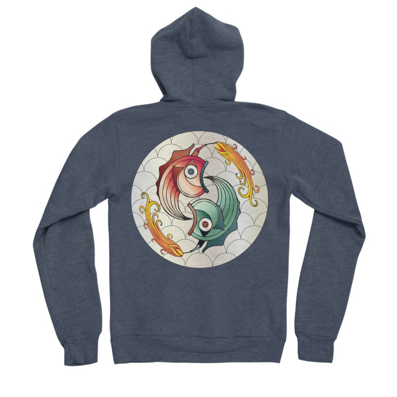 Deco Fish Twins Logo 2019! Men's Zip-Up Hoody by starstar's Artist Shop
