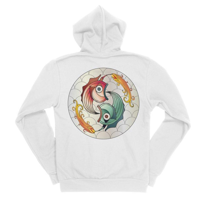 Deco Fish Twins Logo 2019! Women's Zip-Up Hoody by starstar's Artist Shop