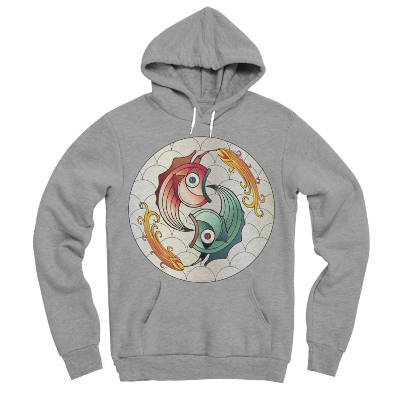 Deco Fish Twins Logo 2019! Women's Sponge Fleece Pullover Hoody by starstar's Artist Shop