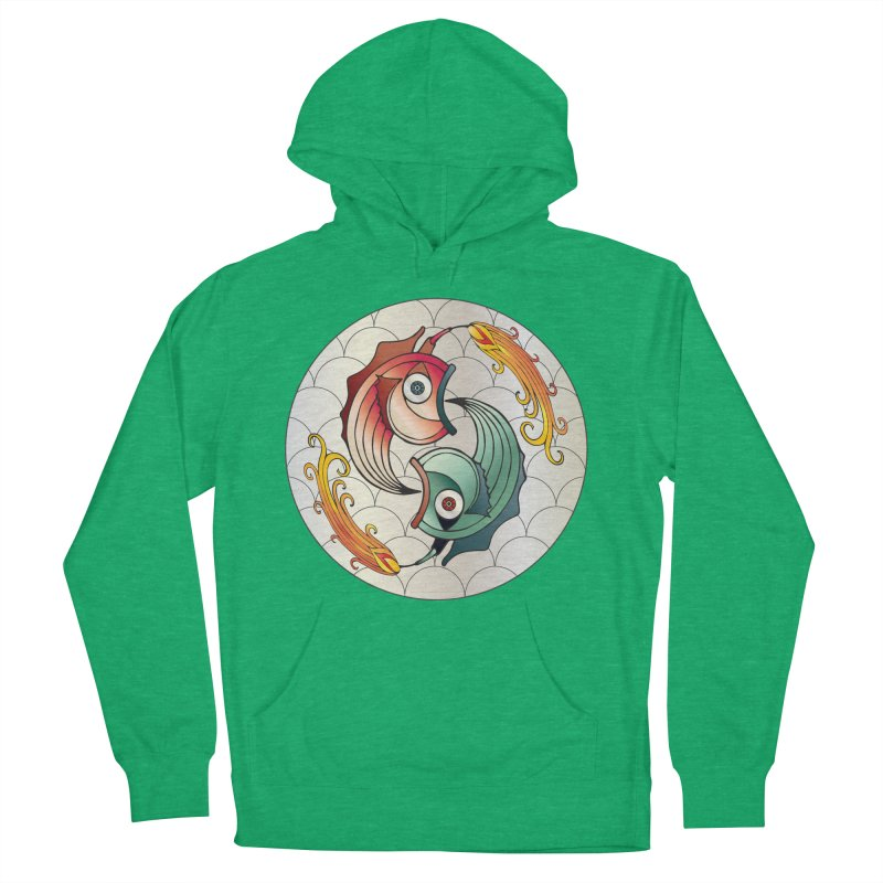 Deco Fish Twins Logo 2019! Women's French Terry Pullover Hoody by starstar's Artist Shop