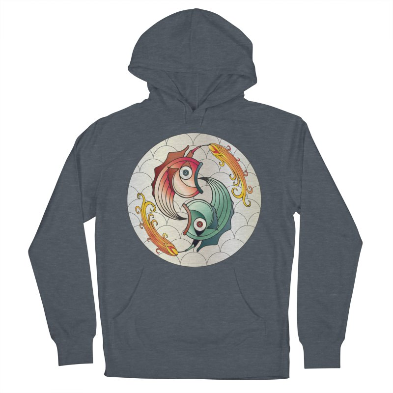 Deco Fish Twins Logo 2019! Men's French Terry Pullover Hoody by starstar's Artist Shop