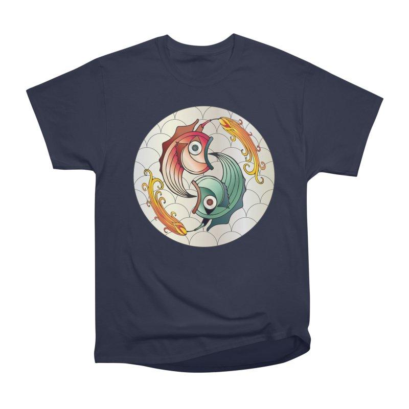 Deco Fish Twins Logo 2019! Women's Heavyweight Unisex T-Shirt by starstar's Artist Shop