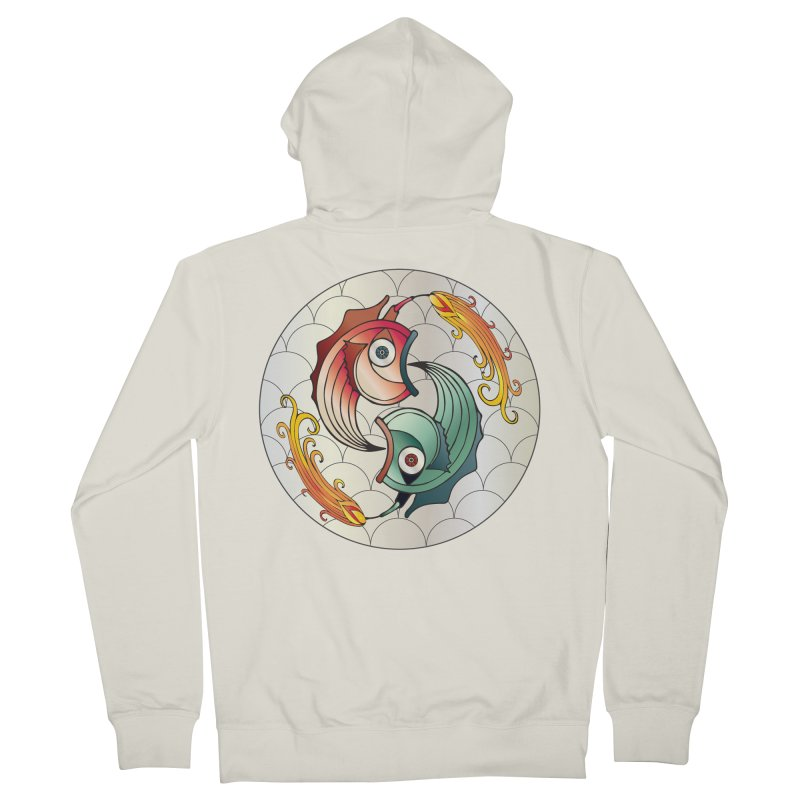 Deco Fish Twins Logo 2019! Women's French Terry Zip-Up Hoody by starstar's Artist Shop